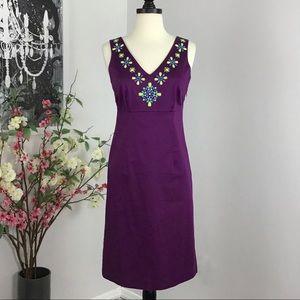 Boden Jeweled Sheath Dress